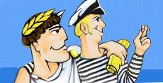Дюк и Костя увидели морячку Соню